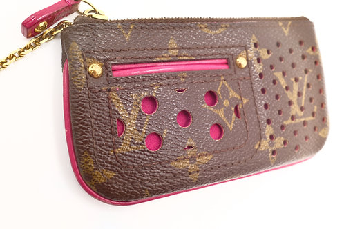 Louis Vuitton Magenta Perforated Cles
