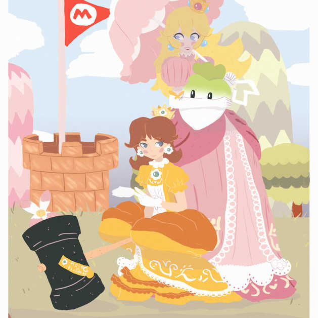 Fanwork of Princess Peach and Daisy