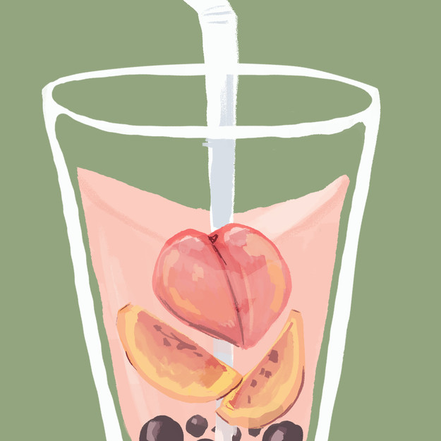 Peach Bubble Tea