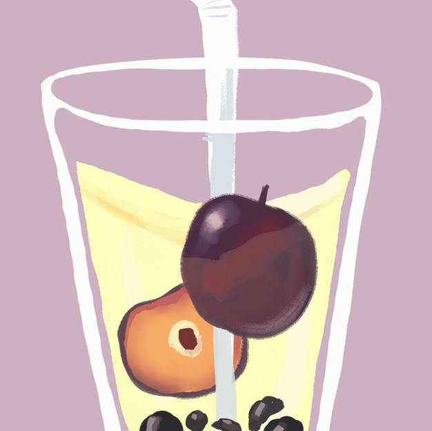 Plum Bubble Tea