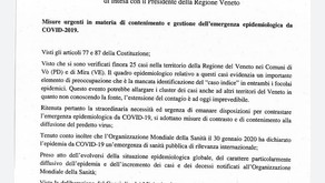 Ordinanza regionale Coronavirus: sospensione lezioni e stage.
