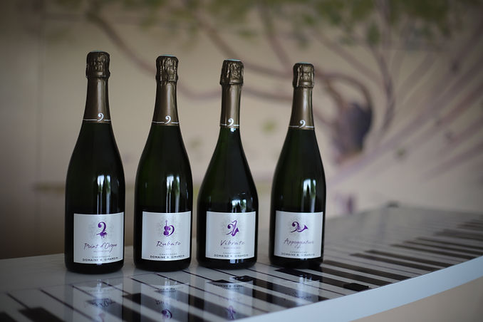 Les cuvées Domaine B.Girardin - Appoggiature, Point d'Orgue, Vibrato, Rubato, Musique, Piano, Champagne