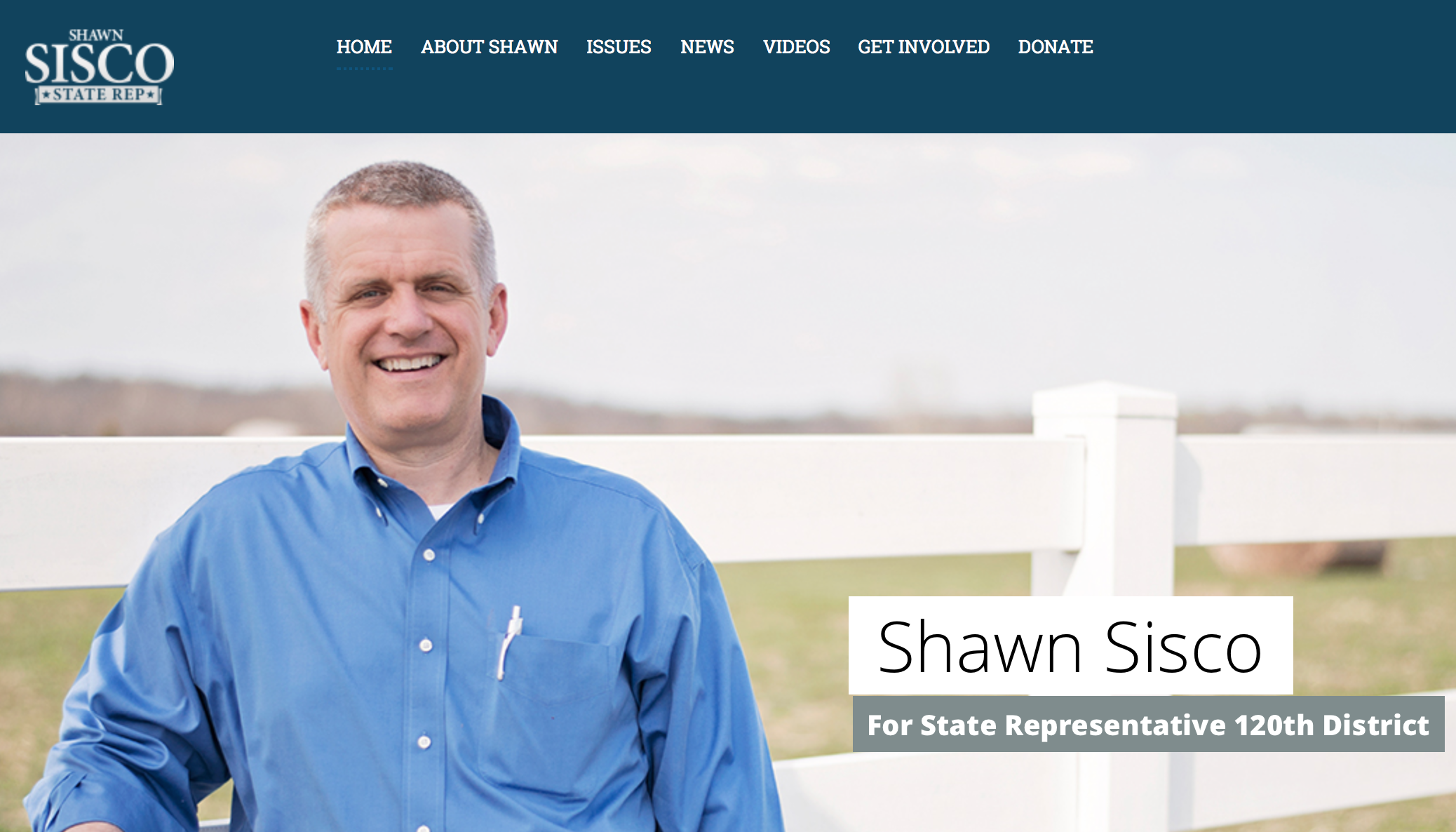 Shawn Sisco Webpage Shot