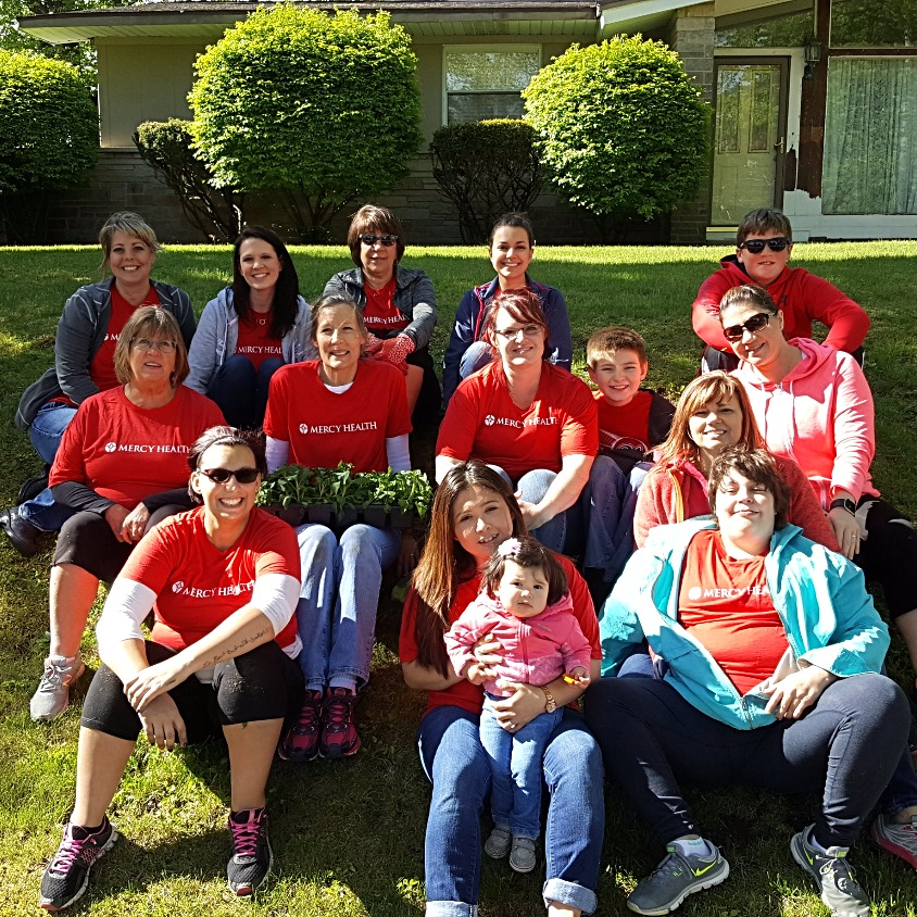 Mercy Health on Planting Day 2017
