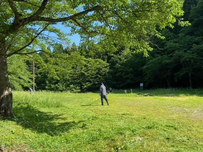 白布温泉 共同作業(草刈り)