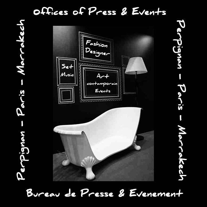 Carte visite baignoire noir blanc 20X20-