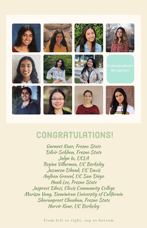 2020 recipient undergraduate recipient c