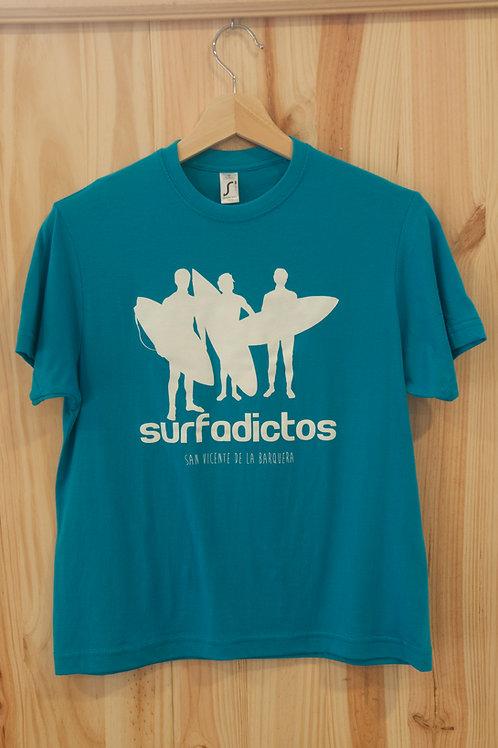 Camiseta de niño SURFADICTOS verde