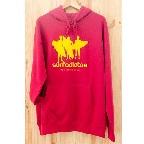 Sudadera unisex SURFADICTOS fucsia