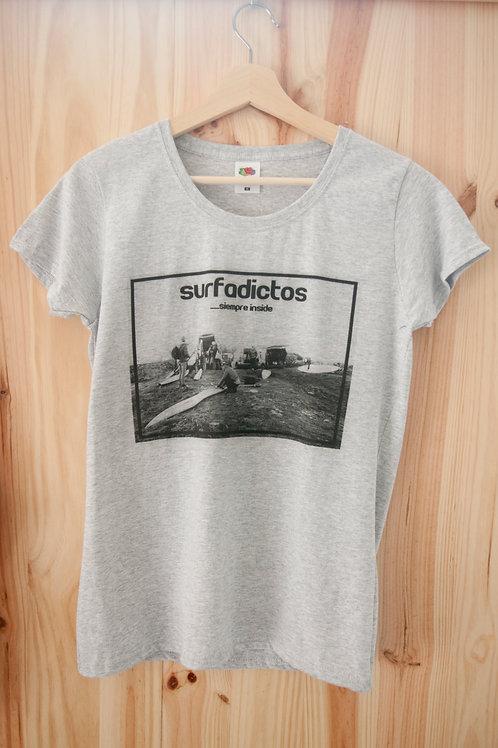 Camiseta  de chica modelo VAQUEROS