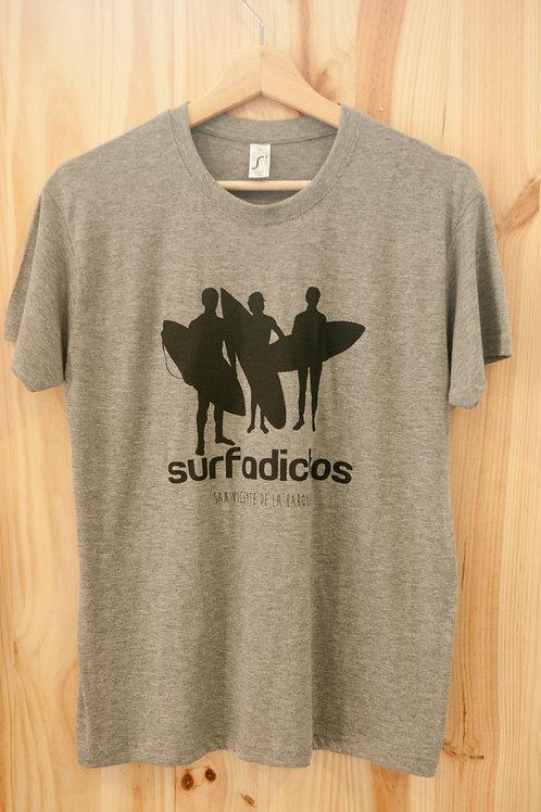Camiseta de chico SURFADICTOS gris mezcla