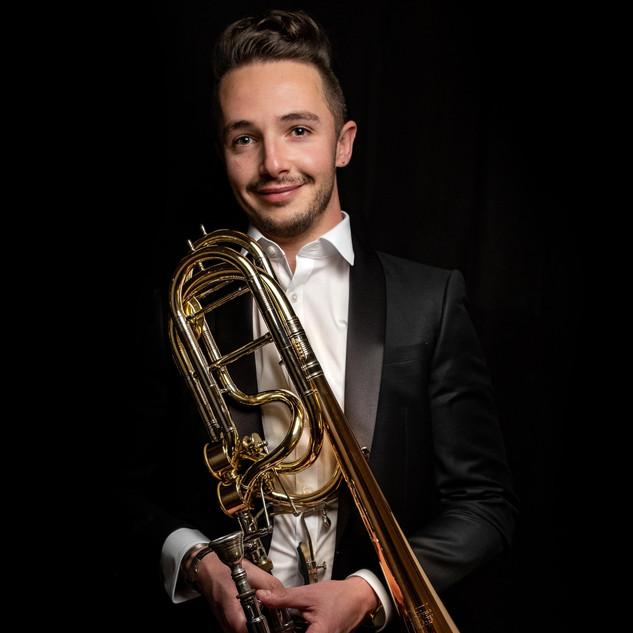 Portrait musicien Paris trombone
