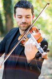 Portrait musicien Paris violon