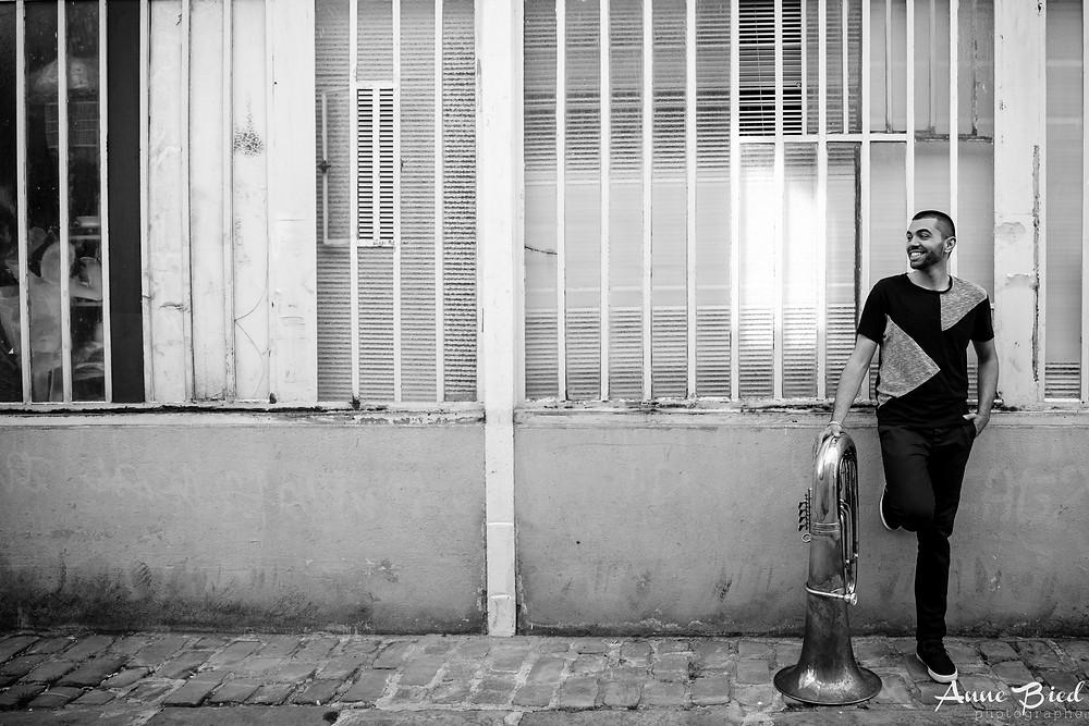 Séance photo portrait musicien - Anne BIED - Photographe portrait musicien Paris