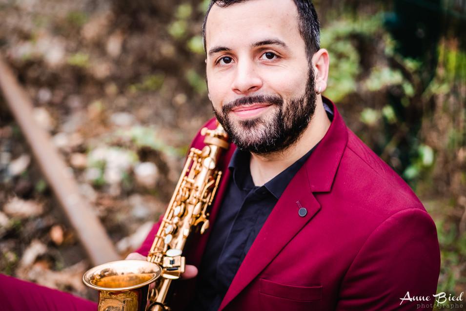 Portrait musicien Paris saxophone