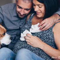 Séance photo grossesse à domicile - Anne BIED - photographe grossesse à domicile Versailles