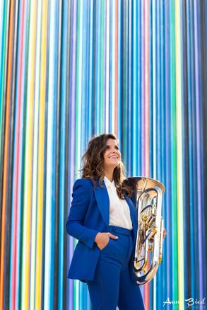Portrait musiciene Paris euphonium