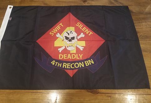 4TH RECON BN 2 X3 FLAG