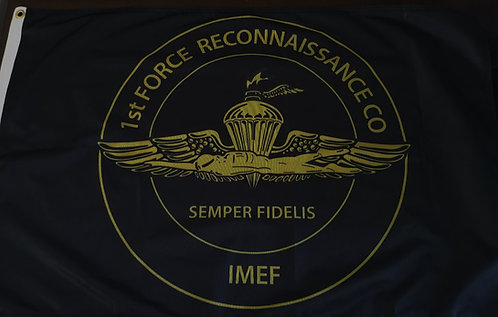 1st Force Recon CO 2 X 3 FLAG