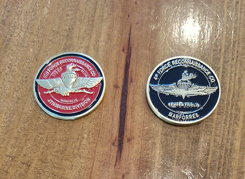 4th Force Reconnaissance Co. Coin