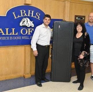 Joanne J-Bird Phillips donates a KORG travel keyboard case to New York's Long Beach High School   Music Department, on behalf of J-Bird Music for the Arts, Inc., 6/24/2014