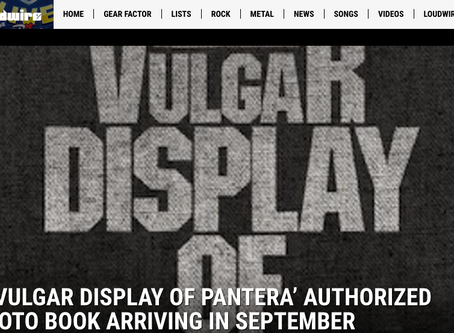 'A VULGAR DISPLAY OF PANTERA' AUTHORIZED PHOTO BOOK ARRIVING IN SEPTEMBER