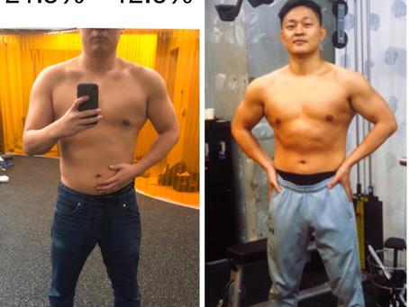 【ダイエットに成功】2ヶ月で体脂肪率を21.5%から12.6%ダウン⤵︎⤵︎ & 筋力アップ ⤴︎⤴︎ 合計8%下げることができました!