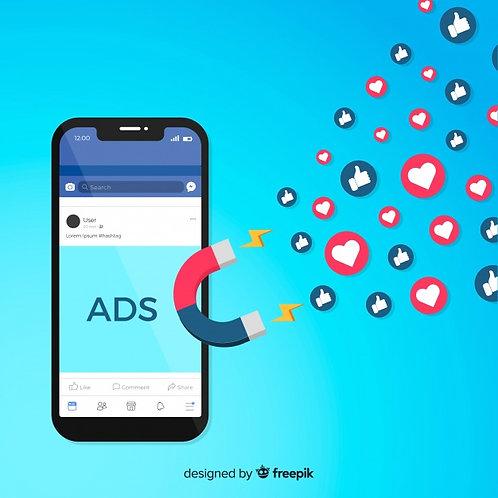 20 Posts Redes Sociais + 4 Anúncios/mês