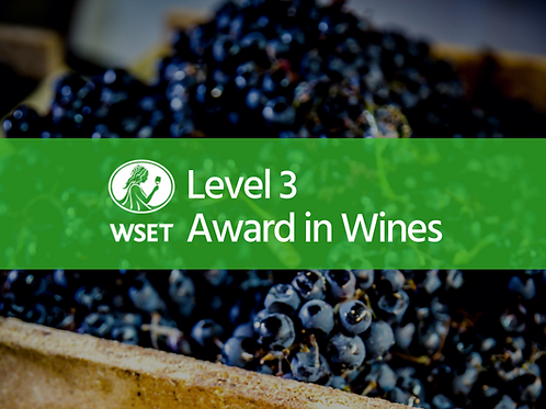 WSET Level 3 Award in Wines (Online Course)