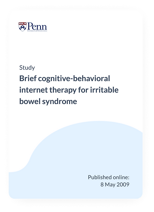 Brief Cognitive-Behavioral Internet Therapy for IBS
