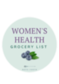 Women's health Grocery List- Circle for