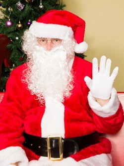 Santa photo package for corporate events