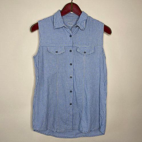Vintage Bluse Top Kariert 80's 90's (M-L)