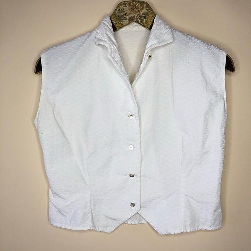 Vintage Bluse Weiß 80's 90's (S)