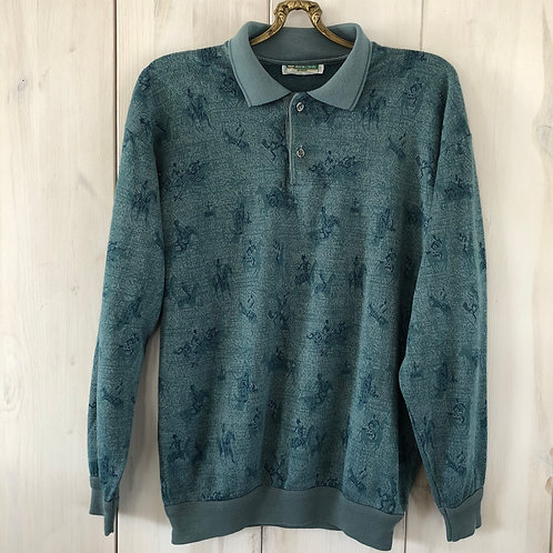 Vintage Woll Pullover Petrol 80's 90's (S-M)