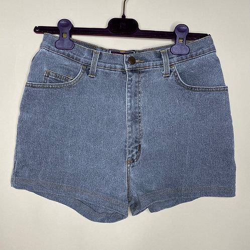 Vintage Highwaist Jeans Shorts Spitfire Grau 80's 90's (S)