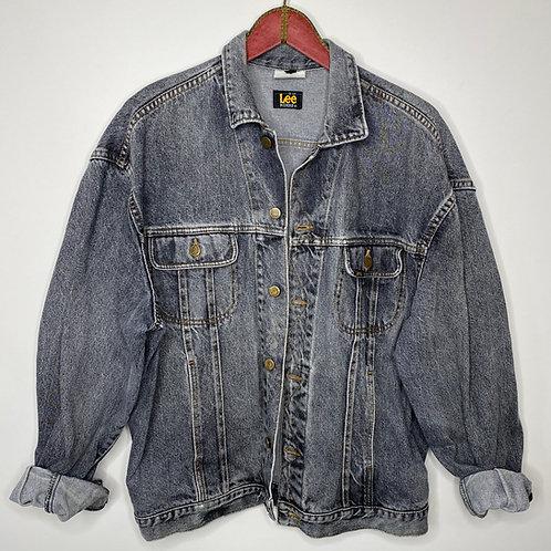 Vintage Jeans Jacke Lee Anthrazit Unisex 80's 90's (L-XL)