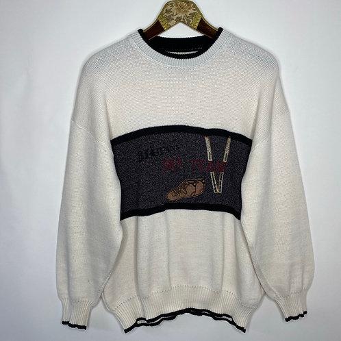 Vintage Strickpullover Winter Unisex 80's 90's (M-L)