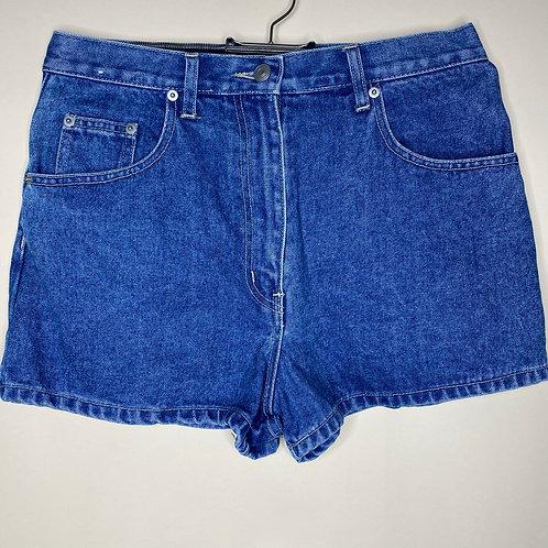 Vintage Highwaist Jeans Shorts Dunkelblau L.F.L 80's 90's (M)