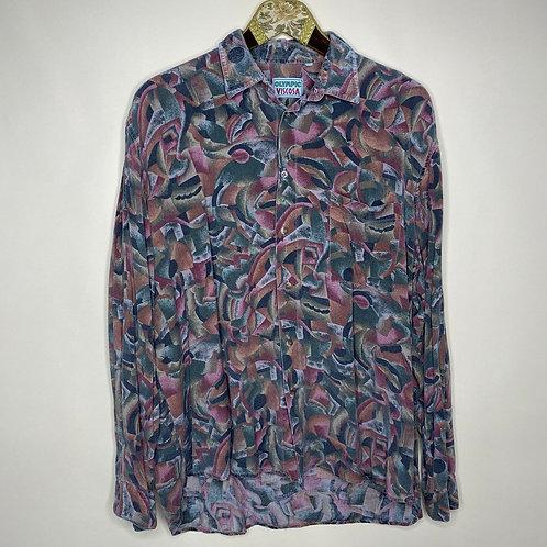 Vintage Hemd Crazy Pattern Unisex 80's 90's (M-L)