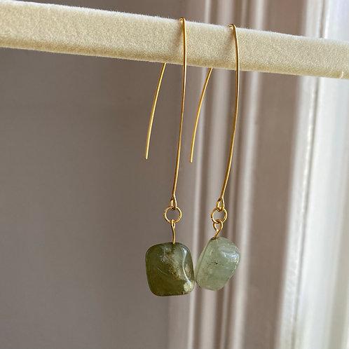 Handmade Ohrringe Jade Stein