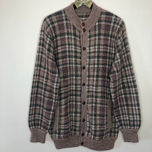 Vintage Long Cardigan Wolle Unisex 80's 90's (M-L)
