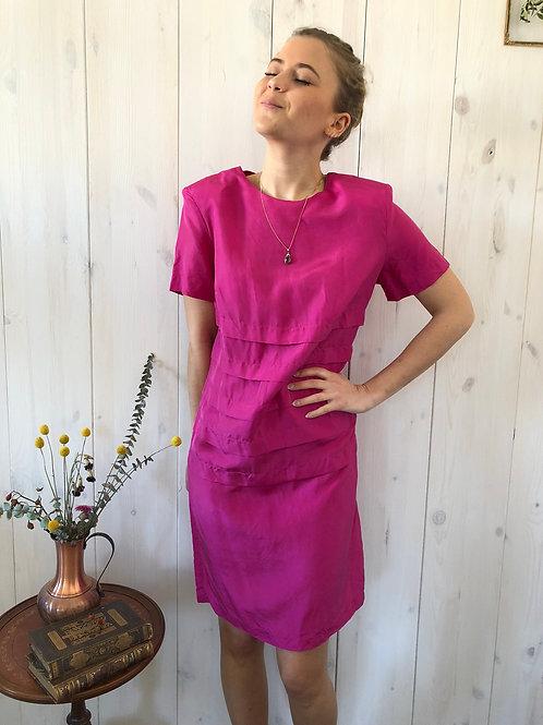 Vintage Kleid Seide Pink 60's (S)