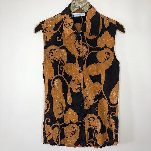 Vintage Paisley Bluse Seide 80's 90's (S-M)