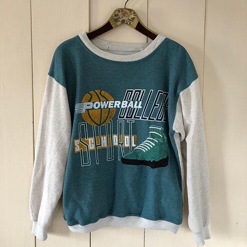 Vintage Oversize Printed Sweater Unisex 80's 90's (S-M)