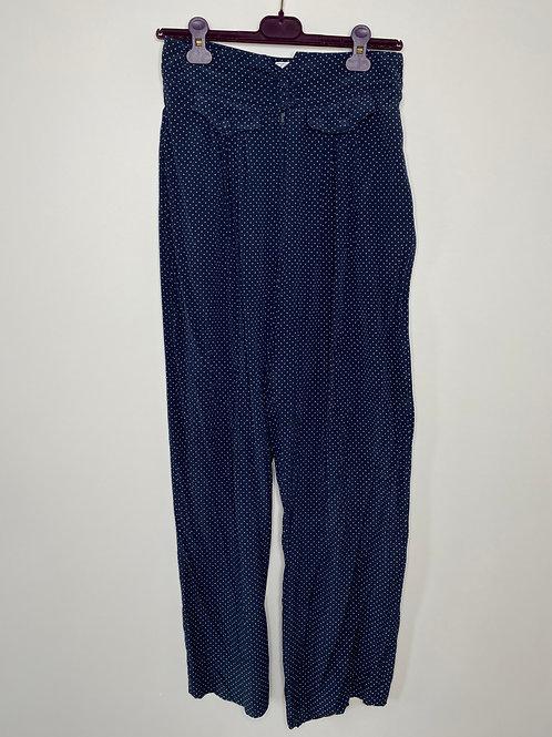 Vintage Hose Seide Blau 80's 90's (M)
