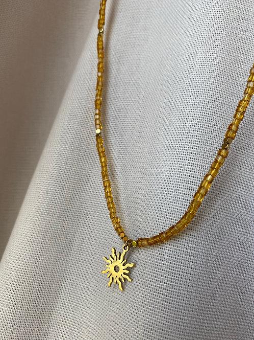 Handmade Kette Sonne Gold