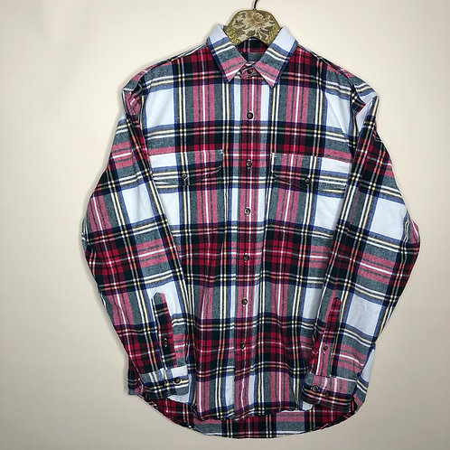 Vintage Hemd Baumwolle kariert 80's 90's (M-L)