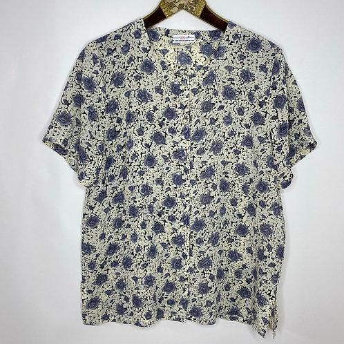 Vintage Blumen Bluse 80's 90's (L)