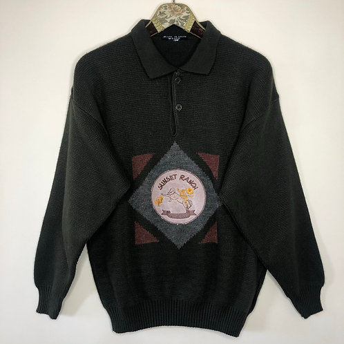 Vintage Woll Pullover Sunset Ranch Unisex 80's 90's (M-L)